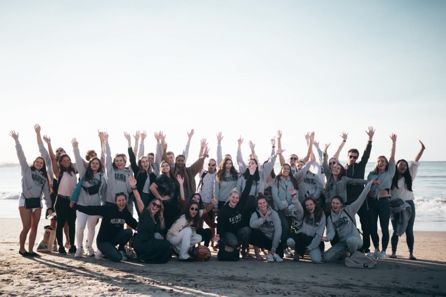 Recuni City Pictures International_Ambassador_Students_Mooloolaba_Beach__Winter___1_
